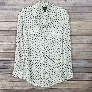 White with Black Polka dots Blouse